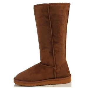 Camel Faux Suede Fur lining Causal Flat Boots